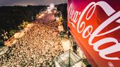Coca-Cola auf der Fanmeile am Brandenburger Tor
