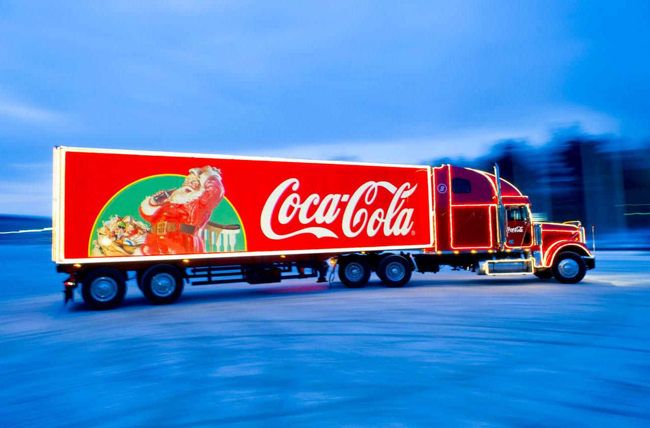 Weihnachtstruck-Schnee-Coca-Cola